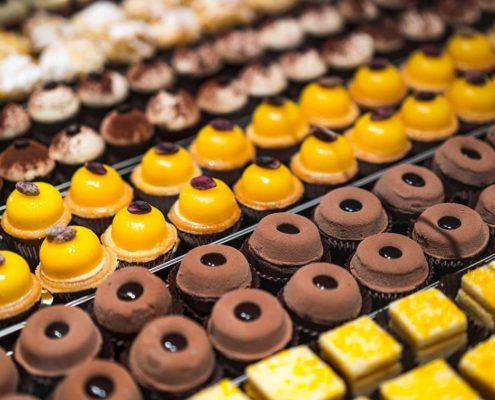 bignoline al cioccolato e alla crema