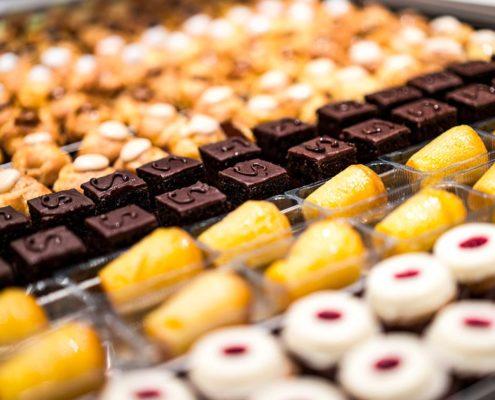 Vari Biscottini dolci cioccolato e crema